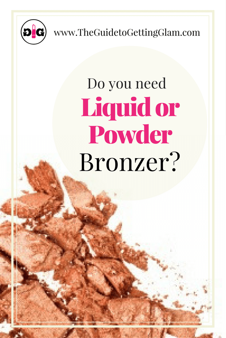Get pro makeup tips on choosing between liquid and powder bronzer.