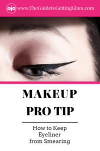 Makeup Pro Tip How to Keep Eyeliner From Smearing. Want to get a great makeup tip to keep eyeliner from smearing and smudging? Click to find out what this makeup artist recommends as the best way to keep your eyeliner from smudging, smearing, and disappearing.