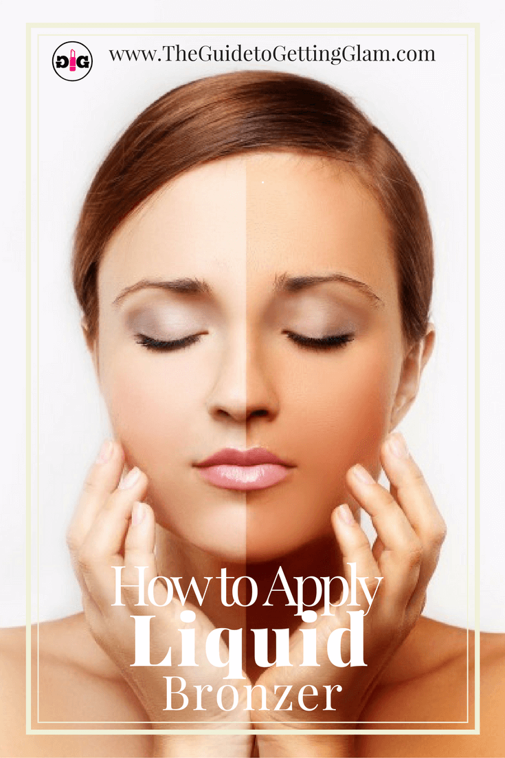 Great makeup artist tips on how to apply liquid bronzer for a smooth application.