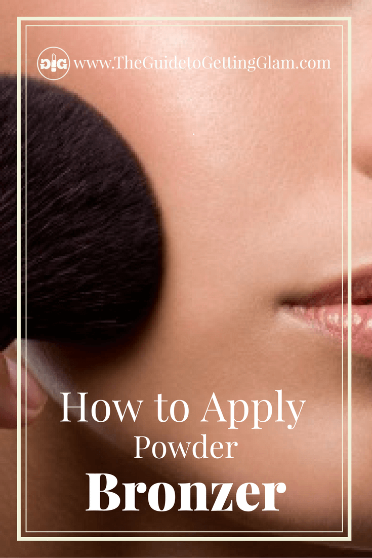 Great makeup artist tip on how to apply powder bronzer for the most natural look.