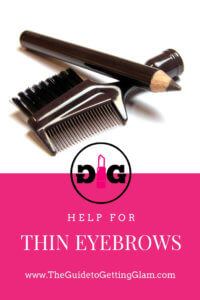Help for Thin Eyebrows | Makeup Tips. From thin eyebrows to thick, learn how to fill in your eyebrows for a natural look. #makeup #makeuptips