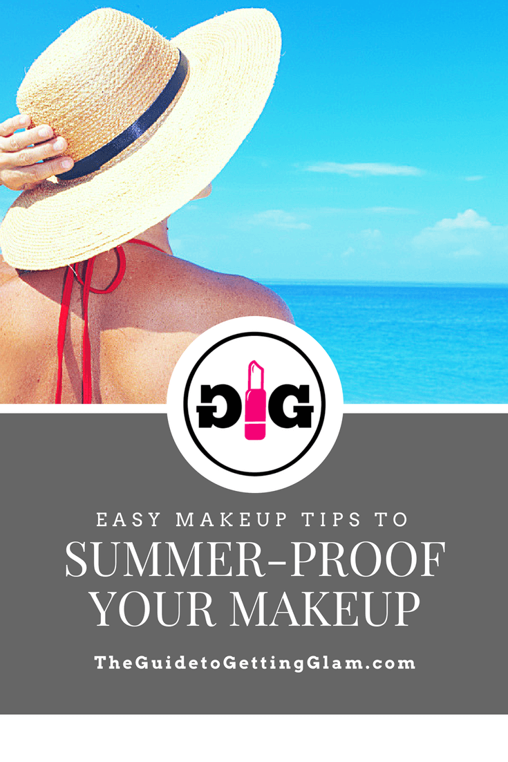 Easy Makeup Tips to Summerproof Your Makeup. Click to read these summer makeup tips to help you find the best sweatproof makeup for oily skin. Learn the best ways to keep makeup from sliding off your skin in the summer heat!