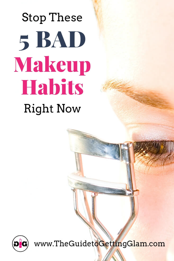 Bad Makeup Habits to Quit Now. Click to read what bad beauty and makeup habits you need to stop right now to protect your health, and learn which good skincare habits you should start in the new year. #makeuptips #skincaretips #skincareroutine